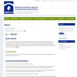 About - American Mental Health Counselors Association