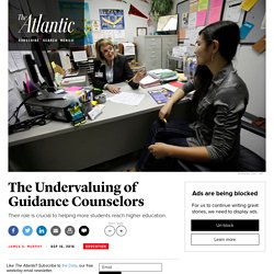 Guidance Counselors Are Underfunded, Crucial