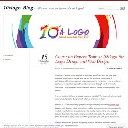 Count on Expert Team at 10alogo for Logo Design and Web Design