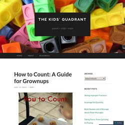How to Count: A Guide for Grownups