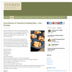untdown to Yorkshire Pudding Day – this Sunday