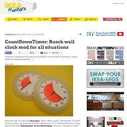 CountDownTimer: Rusch wall clock mod for all situations