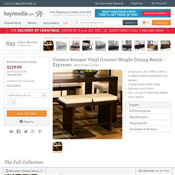 Cramco Kemper Vinyl Counter Height Dining Bench - Espresso - Indoor Benches at Hayneedle