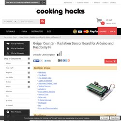 Geiger Counter - Radiation Sensor Board for Arduino and Raspberry Pi