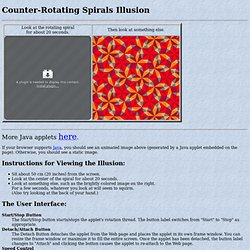 Counter-Rotating Spirals Illusion