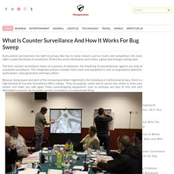What is Counter Surveillance and How it Works for Bug Sweep