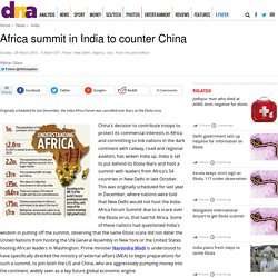Africa summit in India to counter China