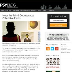How the Mind Counteracts Offensive Ideas