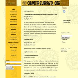 Countercurrents.org American Imperialism Home Page