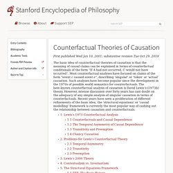 Counterfactual Theories of Causation