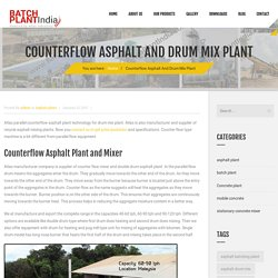 Counterflow Asphalt Plant And Drum Mix Plant for Sale