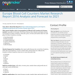 Europe Blood Cell Counters Market Research Report 2016 Analysis and Forecast to 2021