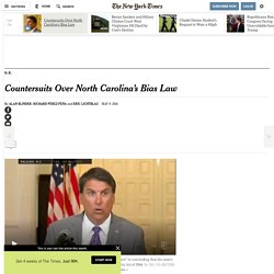 Countersuits Over North Carolina's Bias Law