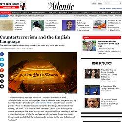 Counterterrorism and the English Language- verbal maps