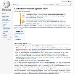 Counterterrorist Intelligence Center