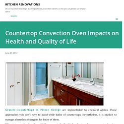 Countertop Convection Oven Impacts on Health and Quality of Life
