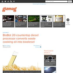 BioBot 20 countertop diesel processor converts waste cooking oil into biodiesel
