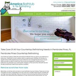 Countertop Refinishing Pembroke Pines - America Bathtub and Tile Refinishing