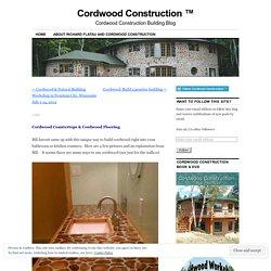 Cordwood Countertops and Flooring!