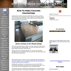 How To Make Concrete Countertops - How To Build Your Own Concrete Countertop