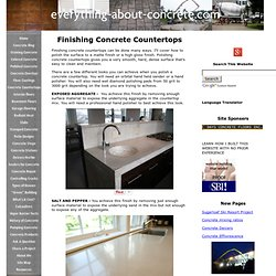 Finishing Concrete Countertops - How To Polish A Concrete Countertop