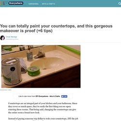You can totally paint your countertops, and this gorgeous makeover is proof (+6 tips)