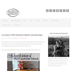A review: IKEA butcher block countertops