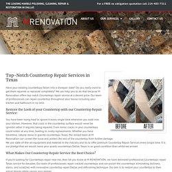 Countertops Repair Texas - Marble & Stone Restoration Services