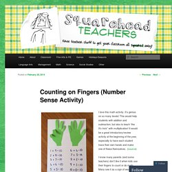 Counting on Fingers (Number Sense Activity)