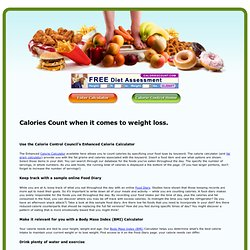 Counting Calories for a Healthy Weight Loss | Counters and Calculators