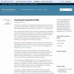 Counting the Casualties of War