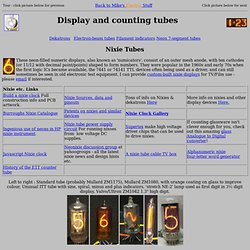 unting & display tubes