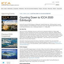 Counting Down to ICCA 2020 Edinburgh - ICCA
