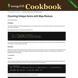 Counting Unique Items with Map-Reduce | The MongoDB Cookbook