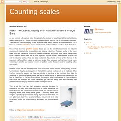 Counting scales: Make The Operation Easy With Platform Scales & Weigh Bars
