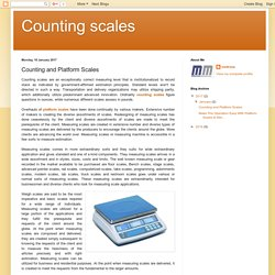 Counting scales: Counting and Platform Scales