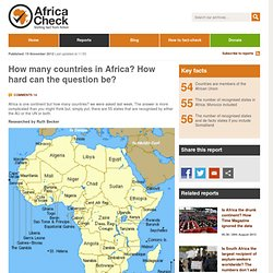 How many countries in Africa? How hard can the question be?