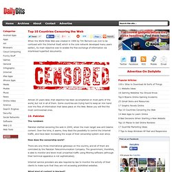 Top 10 Countries Censoring the Web