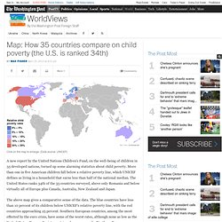 Map: How 35 countries compare on child poverty (the U.S. is ranked 34th)