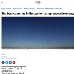 *****The best countries in Europe for using renewable energy