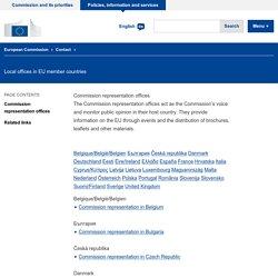 Représentations (Pays membres de l'UE)