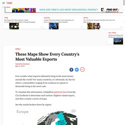 These Maps Show Every Country's Most Valuable Exports