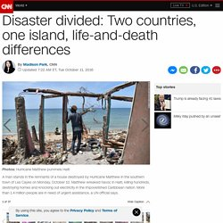 Two countries, one island, life-and-death differences