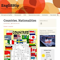 Countries. Nationalities