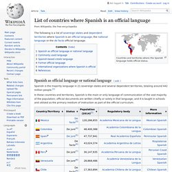 List of countries where Spanish is an official language - Wikipedia