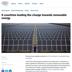 6 countries leading the charge towards renewable energy