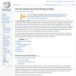 List of countries by Social Progress Index