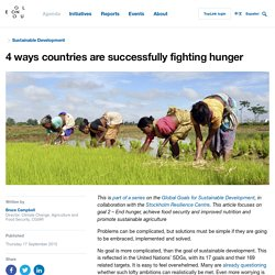 4 ways countries are successfully fighting hunger