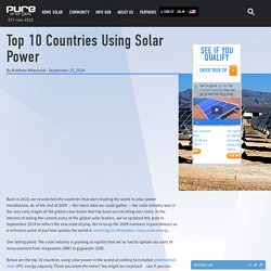 Top 10 Countries Using Solar Power - Pure Energies