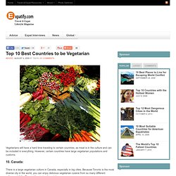 Top 10 Best Countries to be Vegetarian